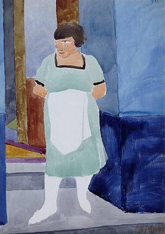 femme au tablier blanc by léon spilliaert
