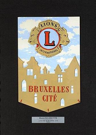 projets de fanion du lions club de bruxelles by rené magritte