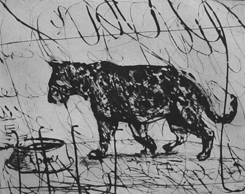 pacing panther by william kentridge
