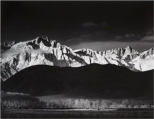 sierra nevada from lone pine, california by ansel adams