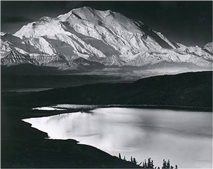 mt. mckinley and wonder lake, denali national park and preserve by ansel adams