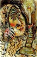 femme à la bougie by marc chagall