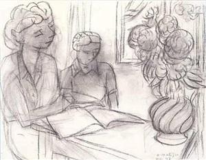 la lecture (recto & verso) by henri matisse