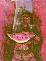 watermelon eater by rufino tamayo