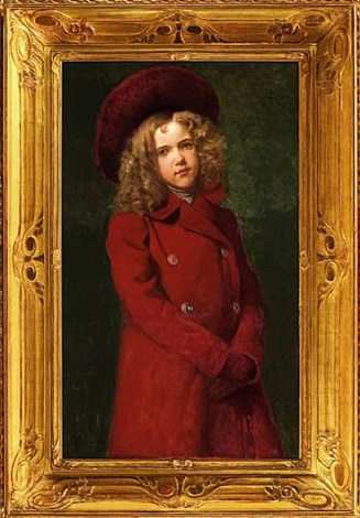 """girl in red"" by john george brown"