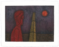 figura en rojo by rufino tamayo