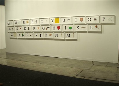 a b c art (low relief): a/ant, etc. (keyboard) by john baldessari