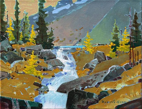 opabin creek, yoho park by robert genn