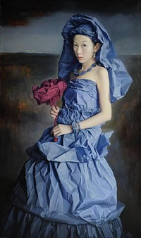 blue paper bride by zeng chuanxing
