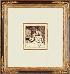 l'enfante marguerite (after velasquez) by édouard manet