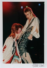 david bowie and mick ronson by mick rock