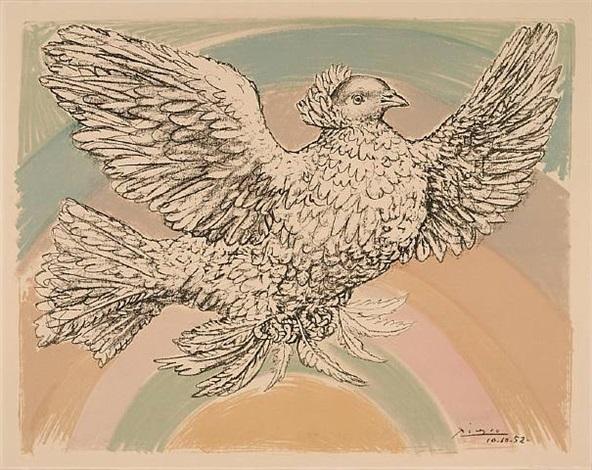 colombe volant (á l'arc-en-ciel) by pablo picasso