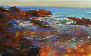 blue in the tidepool by david allen dunlop