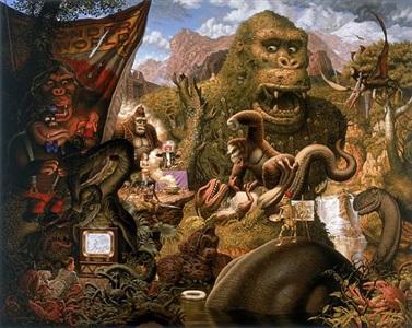 ape worship by todd schorr