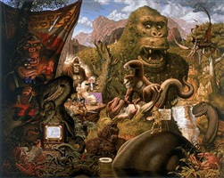 ape worship by todd schorr