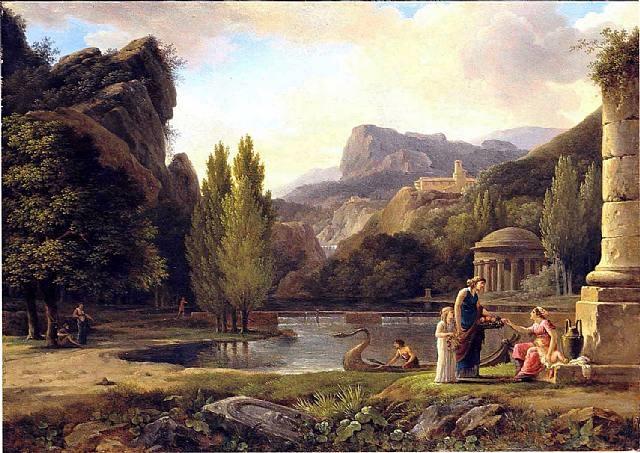 ruines antiques dans un paysage classique by pierre henri de valenciennes