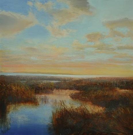 aprroaching sunset by david allen dunlop