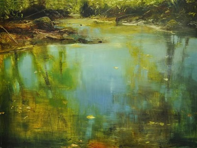 water, mirage of sky by david allen dunlop (sold)