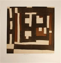 black and brown by mary lee bendolph by gee's bend quiltmakers