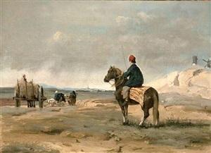 le fermier de pithiviers by jean-baptiste-camille corot