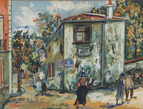rue du mont cenis, ancienne maison berlioz by maurice utrillo