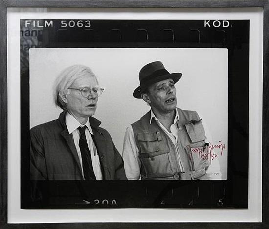 beuys und warhol (new york 1979, 3 motive) by joseph beuys