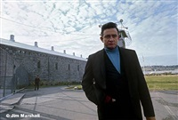 johnny cash, outside folsom prison, ca, 1968 by jim marshall