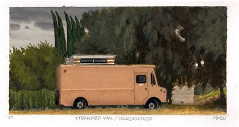 stranded van/fairgrounds by julie bozzi