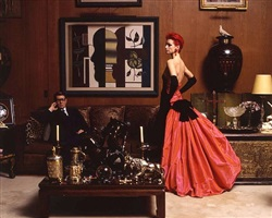 yves saint laurent and sybil buck, paris, october 1995 by jean-marie périer