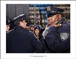 ' photograph of the officers who i will not permit to know;<br> because of this photograph. incident report n°129, in advance of a broken arm, new york city, 2009-2010 by ethan levitas