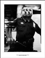' photograph of the officer who will soon detain me; because of this photograph, <br>incident report n°5, in advance of a broken arm, new york city, 2009-2010 by ethan levitas