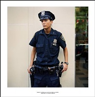 ' photograph of the officer who will not say a word; because of this photograph,<br> incident report n°41, in advance of a broken arm, new york city, 2009-2010 by ethan levitas