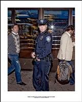 ' photograph of the officer who will soon prohibit my next photograph; because of this photograph,<br> incident report n°47, in advance of a broken arm, new york city, 2009-2010 by ethan levitas