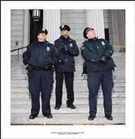 ' photograph of the officer who i will not permit to know; because of this photograph<br>incident report n°139, in advance of a broken arm, new york city, 2009-2010 by ethan levitas