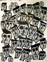 crowds i by donald baechler