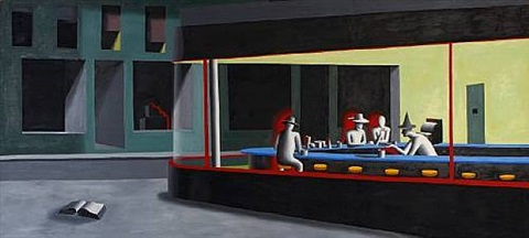greenwich avenue by mark kostabi