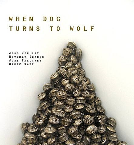 """when dog turns to wolf"" exhibition flyer"