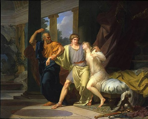 socrates arrachant alcibiade du sein de la volupté (socrates tearing alcibiades from the embrace of sensuality) by jean-baptiste régnault
