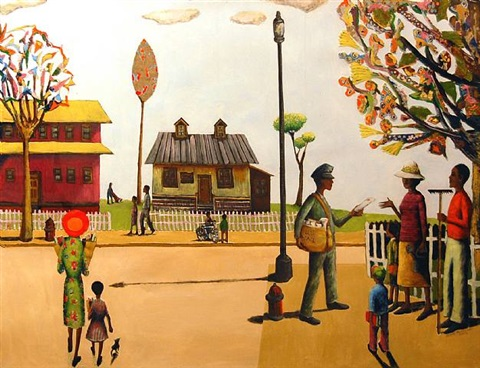 the neighborhood by benny andrews