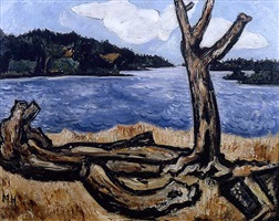 kennebec river, west georgetown by marsden hartley