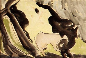 cows in pasture by arthur dove