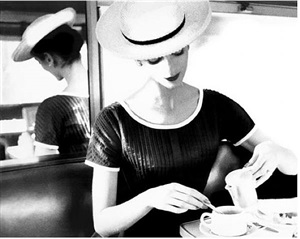 carmen having tea by lillian bassman
