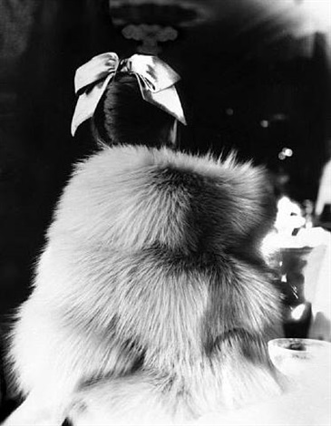 the little furs: mary jane russell in a cape-jacket by ritter brothers at the essex house, new york by lillian bassman