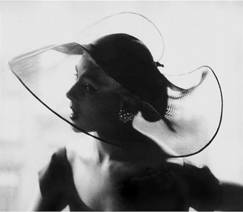 translucent hat by lillian bassman