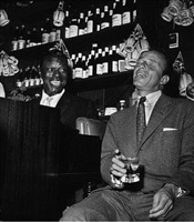 frank sinatra and nat king cole at the villa capri by bernie abramson by hollywood photographers