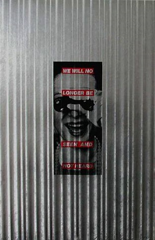 we will no longer be seen and not heard by barbara kruger