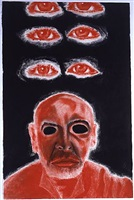 self-portrait in white, red and black vi by francesco clemente