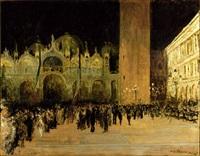 place saint marc à venise le soir by jacques emile blanche