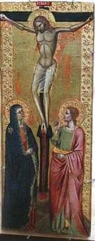 the crucifixion by andrea da firenze (di bonaiuto)
