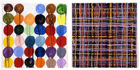circles, plaid by jennifer bartlett